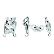 Links of London Ascot Sterling Silver British Bulldog Cufflinks 2516.0404