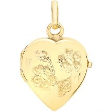 9ct Gold Heart Daisy Locket Chain 1-65-1713