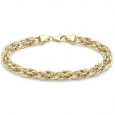 9ct Yellow Gold 7.5 Inch Open Large Link Panther Chain Bracelet 1.29.9262