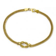 9ct Gold Double Strand Knot Bracelet GB429