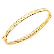 9ct Gold Twist Bangle 1340521