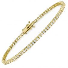 9ct 2mm Round Cubic Zirconia Tennis Bracelet 1.26.9082