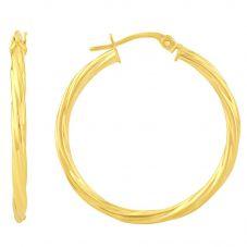 9ct Twist Hoop Earrings D01-5003