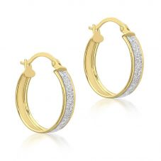 9ct Gold Stardust Creole Earrings 1.51.1159