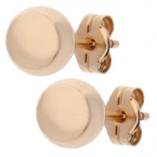 9ct Rose Gold 6mm Dome Stud Earrings E21-0016