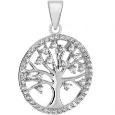 Sterling Silver Stone Set Tree of Life Pendant 8.68.4619