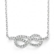 Silver Infinity Necklet N3741C