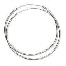 Sterling Silver 50mm x 1.5mm Hoop Earrings H242