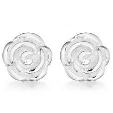 Silver Rose Stud Earrings 8.58.6072