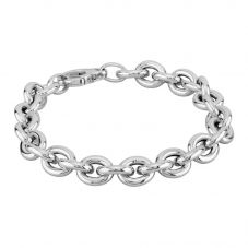 Sterling Silver 7 Inch Small Oval Link Bracelet NTB156-S