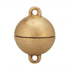 Gold-plated 14mm Brushed Magnet Clasp 24460324