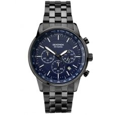 Sekonda Black Stainless Steel Chronograph Bracelet Watch 1376