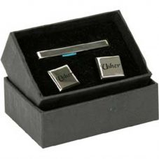 Silver-plated 'Usher' Cufflink And Tie Slide Accessory Set CL164TP