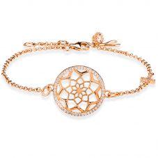 Rosa Lea Rose-Tone Pavé Flower Mandala Bracelet 950705HA