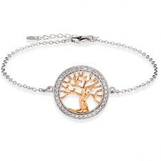 Rosa Lea Two-Tone Pavé Tree Of Life Bracelet BR364CRG0.5