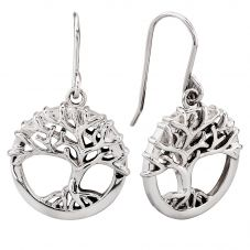 Rosa Lea Silver Growing Tree Of Life Dropper Earrings E2985C