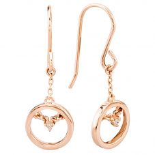 Rosa Lea Rose-Tone Centrepoint Dropper Earrings E3301CRRG0.5(T)