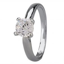 Starbright Silver 6mm Four Claw Round Cubic Zirconia Ring R6025(6M) 3A