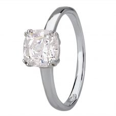 Starbright Silver 6.5mm Cushion-Cut Cubic Zirconia Ring E3858R(6.5X6.5M) 3A