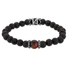 Bourne and Wilde Mens Tigers Eye Bead Bracelet UR04-01