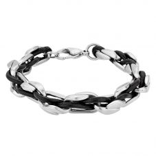 Bourne and Wilde Mens Woven Bracelet CBC-008SBK