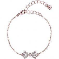 Ted Baker Brinnal Rose Gold Finish Stone Set Bow Bracelet TBJ2340-24-02