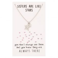 Sentiments Sisters Star Cut-out Pendant 17391
