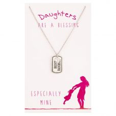 Sentiments Best Daughter Dog Tag Pendant 11635