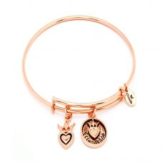 Chrysalis FRIENDS and FAMILY Rose Gold Plated Friendship Bangle CRBT0704RG