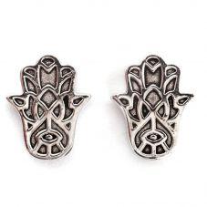 Chrysalis BODHI Silver Hamsa Hand Stud Earrings CRET0401AS