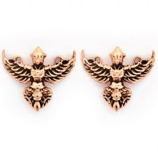 Chrysalis BODHI Rose Gold Plated Garuda Stud Earrings CRET0403AR