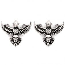 Chrysalis BODHI Silver Plated Garuda Stud Earrings CRET0403AS