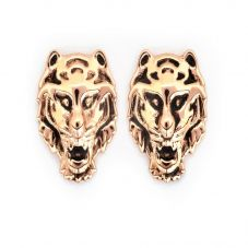 Chrysalis BODHI Rose Gold Plated Tiger Stud Earrings CRET0406AR