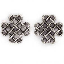 Chrysalis BODHI Silver Endless Knot Stud Earrings CRET0410AS