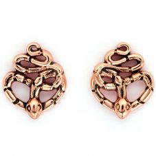 Chrysalis BODHI Rose Gold Plated Naga Stud Earrings CRET0414AR