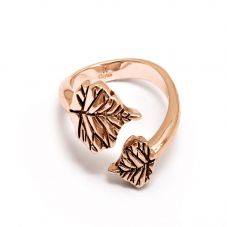 Chrysalis BODHI Rose Gold Plated Adjustable Bodhi Leaf Ring CRRT0505AR