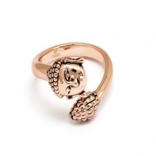 Chrysalis BODHI Rose Gold Plated Adjustable Buddha Ring CRRT0507AR