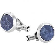 Montblanc Sartorial Round Blue Cufflinks 118610