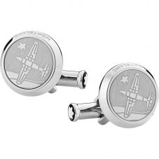 Montblanc Le Petit Prince Stainless Steel Cufflinks 123795