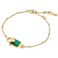 Michael Kors Color 14ct Gold Plated Green Agate Bracelet MKC1041AJ710