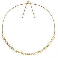 Michael Kors Mercer Link 14ct Gold Plated Slider Necklace MKC1018AA710