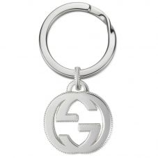 Gucci Interlocking G Silver Keyring YBF49903300100U