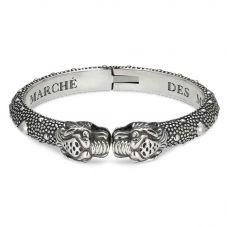 Gucci Le Marché Silver Tiger Head Open Bangle YBA454240001018