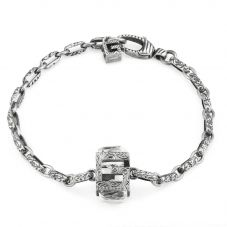 Gucci G Cube Silver Synthetic Crystal Bracelet YBA550888001017