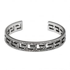 Gucci G Cube Silver Motif Open Bangle YBA551919001