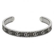 Gucci GG Marmont Silver Open Bangle YBA551903001017