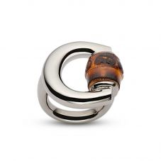Gucci Horsebit Silver Bamboo  Shape Ring YBC236056001
