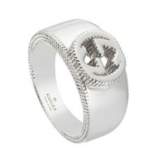 Gucci Interlocking G Silver Band Ring YBC479228001