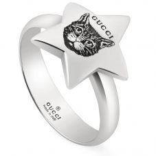 Gucci Blind 4 Love Silver Ring YBC502167001014