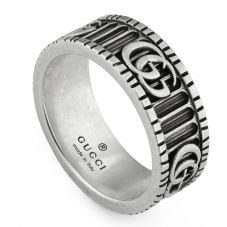Gucci GG Marmont Silver Double G Ring YBC551899001
